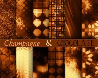 Champagne digital paper, background, scrapbook