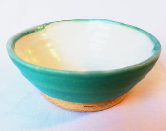 Small turquoise dish