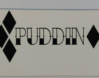 Puddin' Tattoo decal Harley Quinn die-cut vinyl sticker batman joker puddin suicide squad comic book tattoo decal