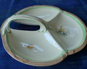 Pretty Newhall 3 section serving dish