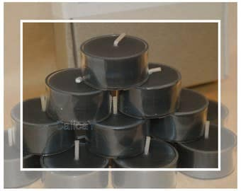 12x Pure Organic Australian Beeswax Tealight Candles - Black