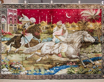 Vintage 'Arabian Nights' tapestry in very good condition