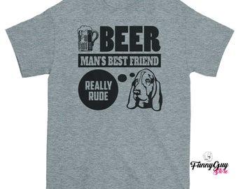 Basset Hound Dog Lover Unique Gift Gift For Him Gift For Her Basset Hound Puppy Basset Beer Lover Funny Tshirts Gift For Dog Lover