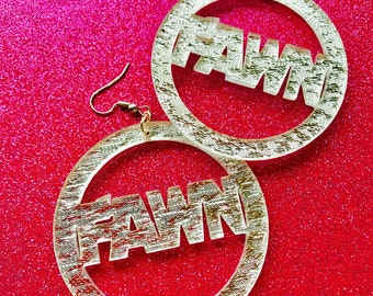 Custom Name Earrings Silver Bling