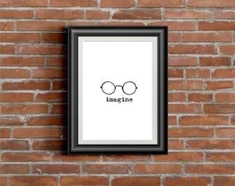 John Lennon - Imagine - DIGITAL PRINT