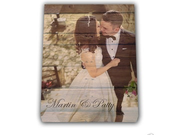 Canvas Print Wood Effect, Wedding Picture, Rustic Wall Art, Canvas Picture Wood Background, Wood Pattern on Canvas, Wedding Art on Canvas