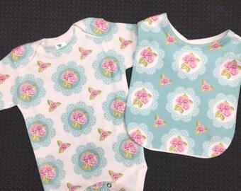 4 PC Shabby Chic Newborn Gift Set