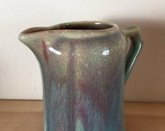 Unusual Vintage Glazed Milk Jug