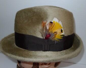 Nice vintage BILTMORE RONDELAY   fur felt hat   M  -    Elegant chapeau BILTMORE  en feutre   M