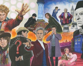 Doctor Who 'All The Doctors' Gicleé Print