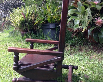 Childs/dolls rocking chair steel springs