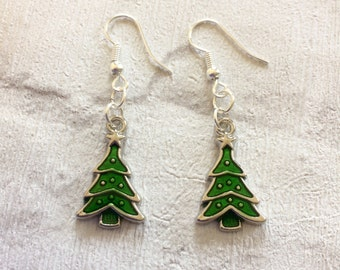 Christmas Tree  Earrings, Novelty Tree earrings, Christmas Tree  Earrings, Christmas Dangle Earrings, Stocking Filler, Festive Earrings,