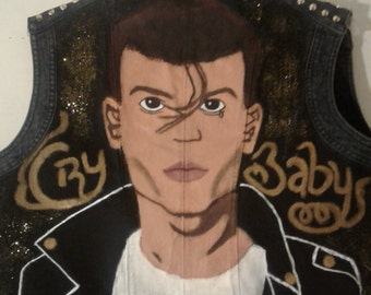 Cry Baby Johnny Depp painted vest
