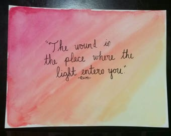 Watercolor Quote Painting