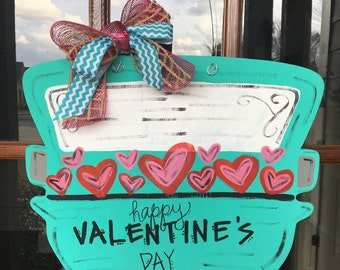 Truck Full of Love Wooden Door Hanger