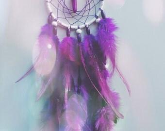SALE! Dream catcher // purple glitter power
