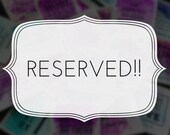 Reserved order: Purposely Blessed