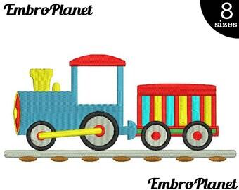 Cute train - Design for Embroidery Machine Instant Download Digital Graphic File Stitch 4x4 5x7 inch hoop kid child train cartoon ride 524e