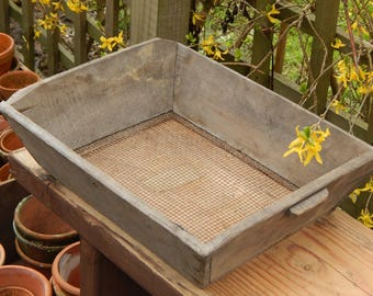 French Wooden Garden Sieve