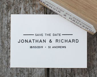 Save-the-date stamp