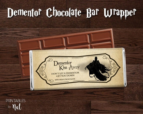 Effortless image with regard to dementor chocolate wrapper printable