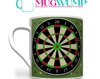 Personalised Father's Day Darts Mug. Darts Mug. Darts Gift. Dad Gift.