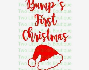 Bump's first christmas - maternity - SVG - maternity christmas shirt - SVG- File for Cutters - Silhouette - Cricut