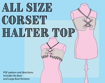 Corset Halter Top Pattern for BJDs