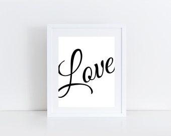 Love, Printable