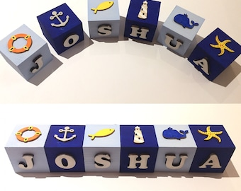 Nautical name blocks