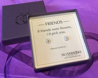 Sweet as a Daisy - if friends where flowers i'd pick you sterling silver earrings