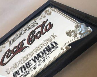 Coca Cola Sign, Coca Cola collectibles, Vintage Coca Cola, Vintage coke sign, Coca Cola gift, coca cola decor, vintage coke, coke decor,