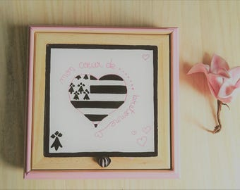 Rose heart Brittany jewelry box