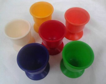 Vintage plastic egg cups