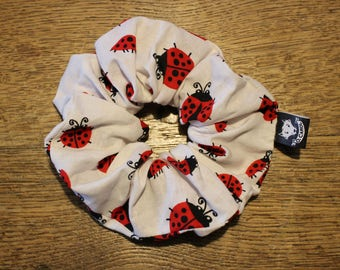 Darling designs Ladybug white and Red accessory for hair retro look 80 s cotton O.Carol