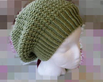 Olive Green Knit Beanie