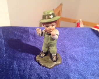 "vintage 1950's ""lego"" imports  st patrick's boy playing flute"