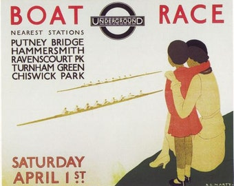 1933 Oxford Cambridge University Boat Race Poster  A3/A2/A1 Print