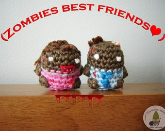 Zombies best friends man and businesswoman to crochet