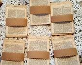Vintage bundle of aged small bible pages/20 thin pages/decoupage/journals/paper crafts/art projects/pages are aged beautifully