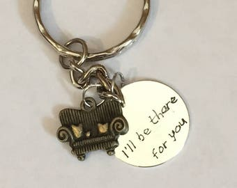 Friends inspired keyring, I'll be there for you keyring, Friends keyring, Friends keychain item 723A By CraftyLittleMonkeyGB