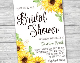 Bridal brunch invitation fall bridal shower invitation sunflower bridal shower invitation printable invitation summer bridal shower invitation sunflower baby shower filmwisefo