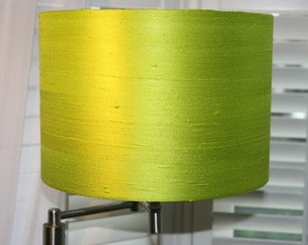 Lime Green Dupion Silk Lampshade - 30cm Diameter