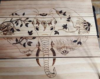 Custom elephant drawing
