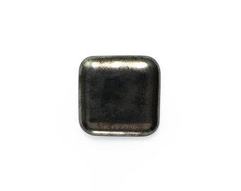Ceramic Dark Metallic Square Cabochon 1 piece