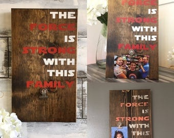Star Wars - The Force is Strong with this One - The Force is Strong with this Family - Wood Sign