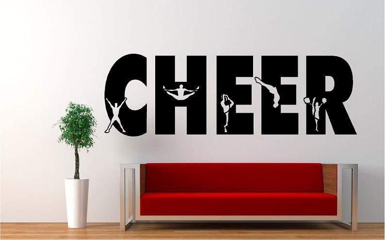Cheerleading wall decals removeable repositionable for Cheerleader wall mural