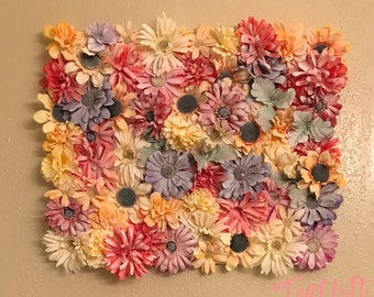 Floral frost wall canvas