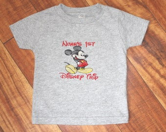 Mickey Shirt Mickey Mouse Shirt 1st Trip to Disney Disney Shirt Mickey Mouse Clothing Disney Trip Shirt Kid Mickey Mouse Shirt Minnie Mouse
