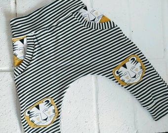 Harem pants, mbjm harem pants, baby pants, toddler pants, bamboo harems, knee patch harems, striped pants, baby pants, lion harems, organic